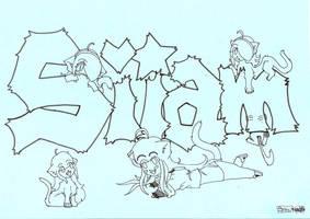 Siiam +LINEART+ by SKY-SaKuYa-SKY