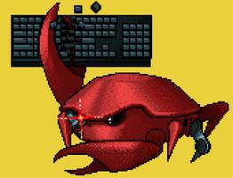 Keyboard crab by HokyBriget