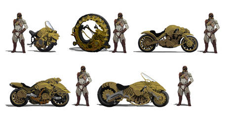 Combat Motorcycle sketch by psychepool