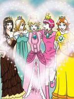 Nintendo Princesses by aki0023