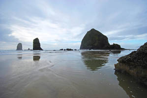 Sea Stacks at Low Tide by MogieG123