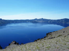 Crater Lake And Shore by MogieG123