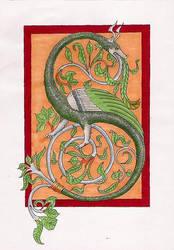 Medieval Wyvern by Ceinwen