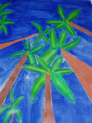 palm trees by rockstar-kat666