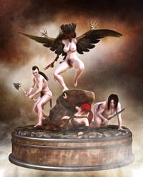 Goblin collectables - Raven Women by IronHawk-R