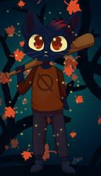 Night in the Woods (speedpaint) by Evilturtleruler