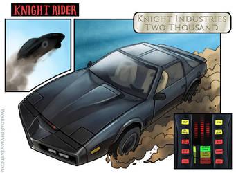 Knight Rider fanart by Twarda8