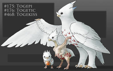 Realistic take on Togepi Togetic Togekiss by Twarda8