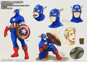Battle Rehime |  Captain America by sphelon8565
