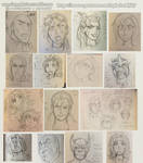 Face Sets Sample Sketches by sphelon8565