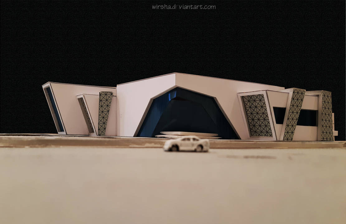 Youth Center Project- Model by Wirsha