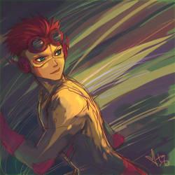 YJ: kid flash by pancake-waddle