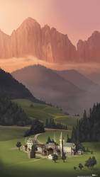 Mountain Village Study by mOOg267