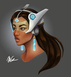 Symmetra Sketch by mOOg267