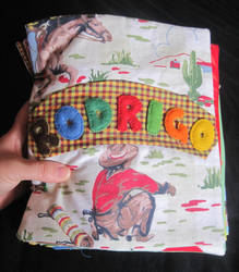Fabric Book Cover by Sompy-Stuff
