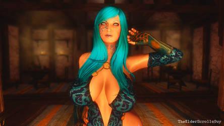 Dem Tits #16: Blue Goddess Clevage by TheEldersScrollsGuy