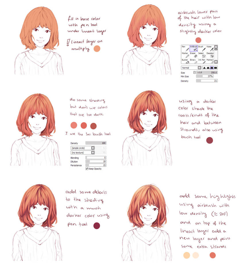 Hair coloring tutorial by Hiba-tan on DeviantArt