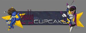 Squiddy and Cupcake banner by capwak