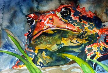 Wc Grumpy Toad by capwak
