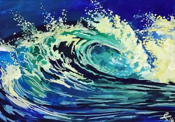 Gouache Wave by capwak