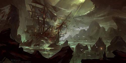 Lost Battleship by Zudartslee