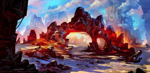 Fantasy Ridge by Zudartslee