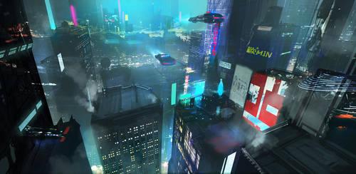 Cyberpunk Study 3hrs by Zudartslee