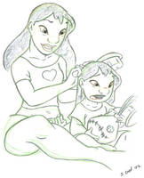 Lilo and Nani by landesfes