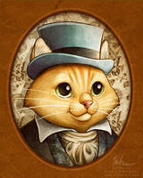 Victorian Dapper Cat by HeatherHitchman