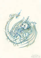 The Baby Crystal Dragon by HeatherHitchman