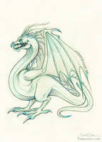 The Mighty Sea Wyvern Adolescent by HeatherHitchman