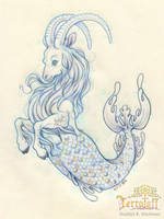 Mermay 2017 #4 The Capricorn by HeatherHitchman