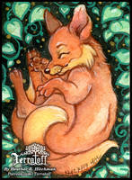Kitsune Collection #9 Sleeping Pup by HeatherHitchman