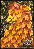 Kitsune Collection #16 Yellow Leaf Rott by HeatherHitchman