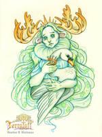 MarchOfTheFauns #8 Queen Nema by HeatherHitchman