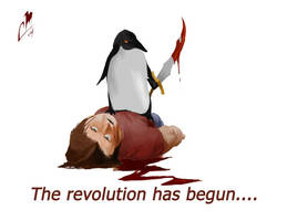 Penguin Revolution by cmalidore