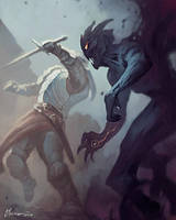 Righteous Duel by cmalidore