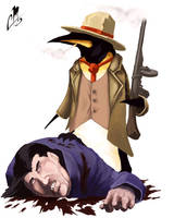Mobster Penguin by cmalidore