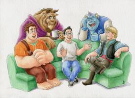 group hangout by 7espada