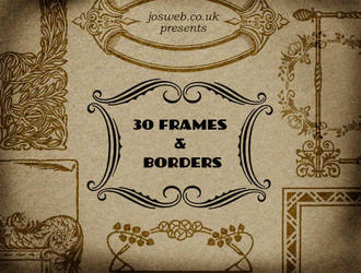 30 Frames and Borders Brushes by gojol23