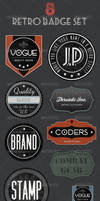 Retro Badges - Faded Vintage by gojol23