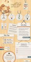 Craft Shop  Retail Web Elements by gojol23