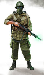 Tesla Gunner Paratrooper by anderpeich