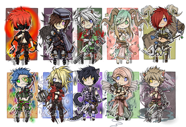 Mixed Male Adopts by Decora-Chan