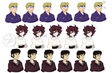Full Set of Bare Bones Character Stills by Shifted-Anubis