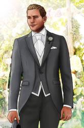 Commander Cullen modern AU groom by Shizuru117
