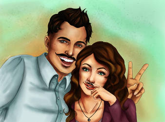 Dorian Pavus, Evelyn Trevelyan: mustache brothers by Shizuru117