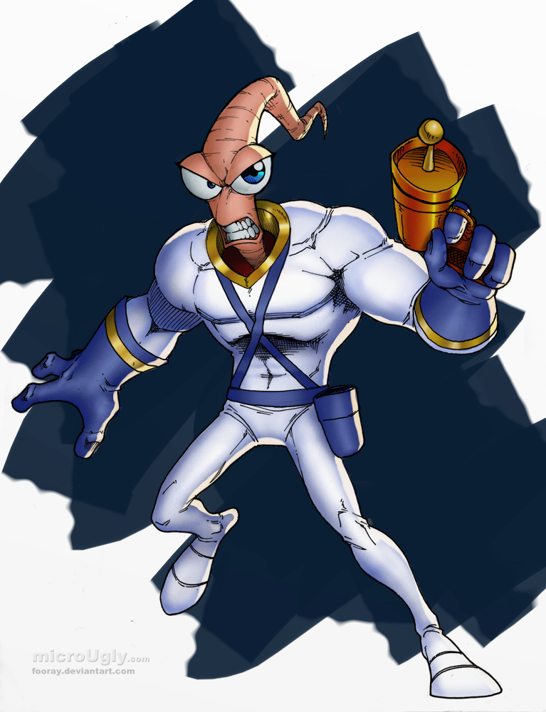 Earthworm Jim colours by microUgly