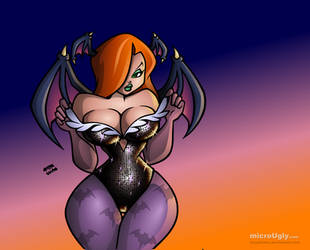 Jessica Rabbit as Morrigan by microUgly