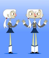 Squircle Girl - Full body by JasperMouse